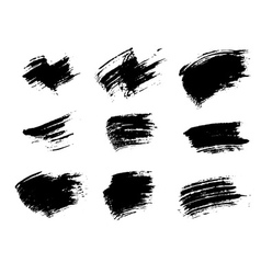 Grunge brushes texture set vector