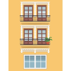 Yellow building vector