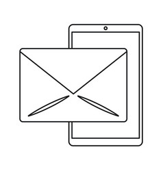 Smartphone email message mail line vector