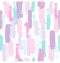Pastel color paint brush strokes vector