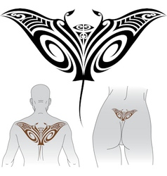 Maori Manta tattoo design vector image