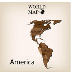 World map america vector