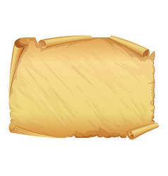 golden old scroll of parchment vector image
