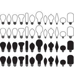 Bulb collection vector image