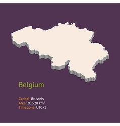 3d map of belgium vector