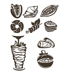 Turkish food vector
