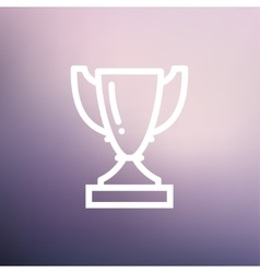 Trophy thin line icon vector