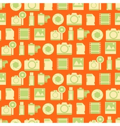 Seamless pattern with photo equipment vector