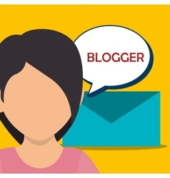 Blog and bloggers trend vector