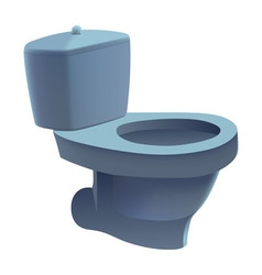 Toilet isolated vector image