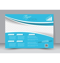 Flyer brochure magazine cover template design vector image