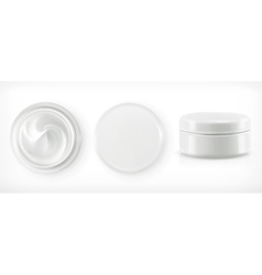 Round packaging of cream vector
