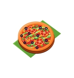 Vegetarian full pizza vector