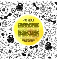 Sport frame circle vector image