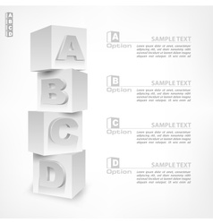 ABC blocks infographic vector image