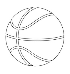 Basketballbasketball single icon in outline style vector
