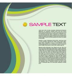 brochure wave vector image