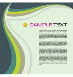 brochure wave vector image vector image