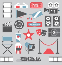 Cinema and Movie Icons and Elements vector image vector image