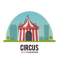 Circus tent design vector