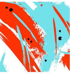 Color orange blue line strokes vector