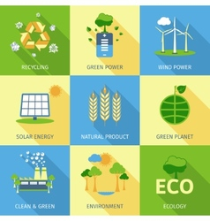 Ecology Concept Set vector image vector image