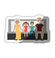 Family people together with shadow vector