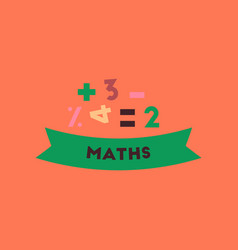 flat icon on background math lesson vector image vector image