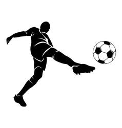 Football player with the ball vector image
