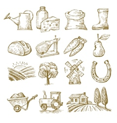 hand draw village vector image vector image