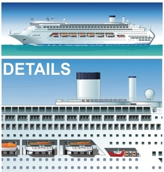 Hi-detailed cruise ship vector