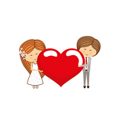 lovely couple cartoon vector image