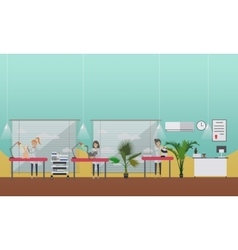 Medical inspection in vet clinic concept vector image