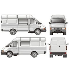 mini bus vector image vector image