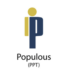Populous cryptocurrency symbol vector