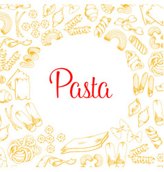 Poster of pasta for italian cuisine design vector