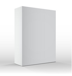 Realistic Blank White Packaging Box Template for vector image