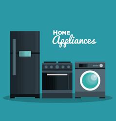 Set home appliances icons vector