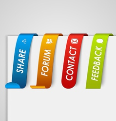 Set of colored paper tags web element vector image vector image