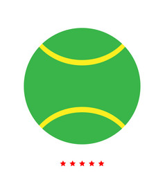 Tennis ball icon different color vector