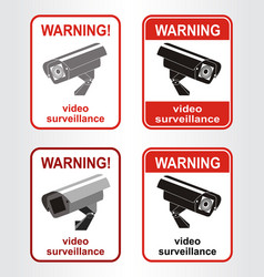 video surveillance sign vector image vector image