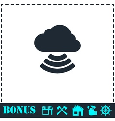 Wi-Fi cloud icon flat vector image vector image