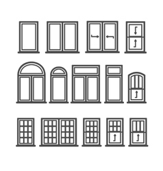 Window Icons Set vector image vector image