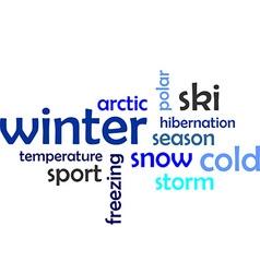 word cloud winter vector image