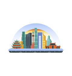 China icon in flat style vector