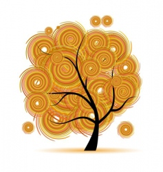 Art tree fantasy autumn season vector