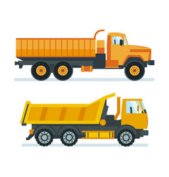 Lorry for transportation of goods resources vector