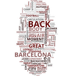 Memories of barcelona text background word cloud vector