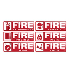 Fier equipment sign vector