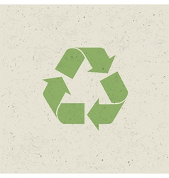 Recycled design set vector